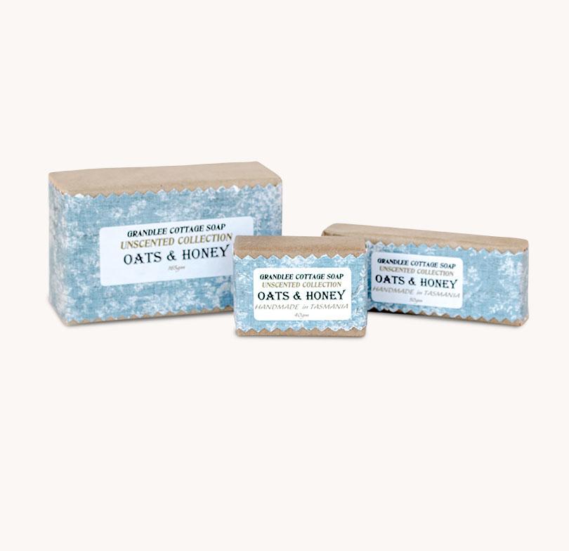 oats and honey unscented handmade natural soap Tasmania