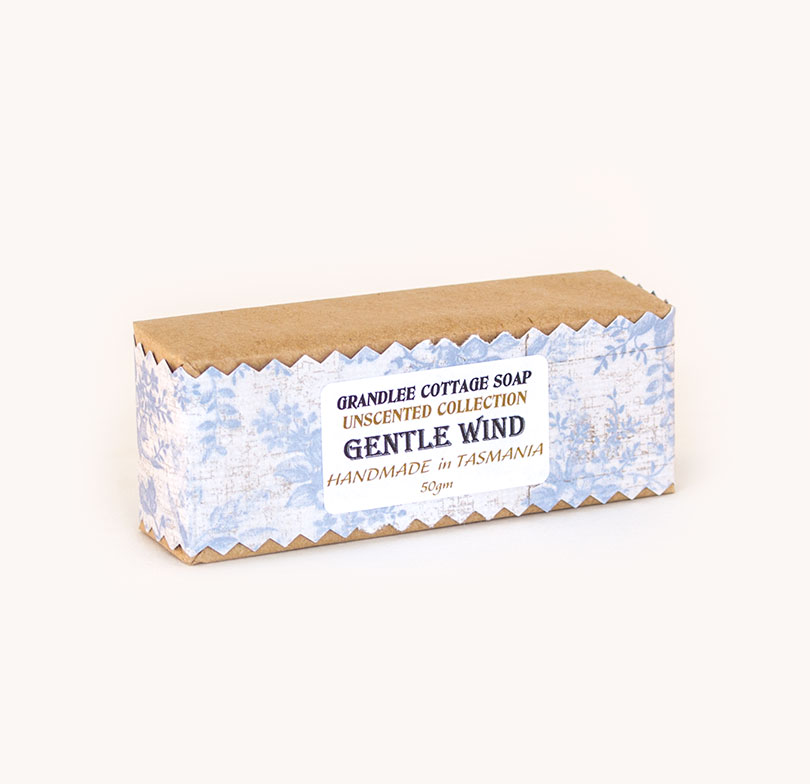 gentle wind unscented handmade natural soap Tasmania