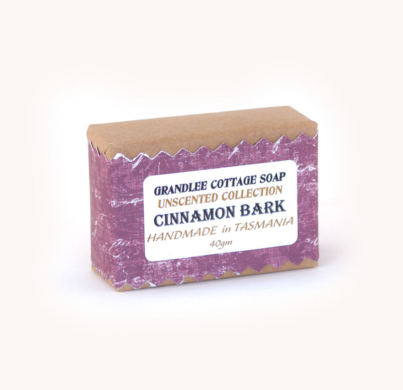 cinnamon bark unscented handmade natural soap Tasmania