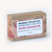rose geranium handmade natural soap Tasmania