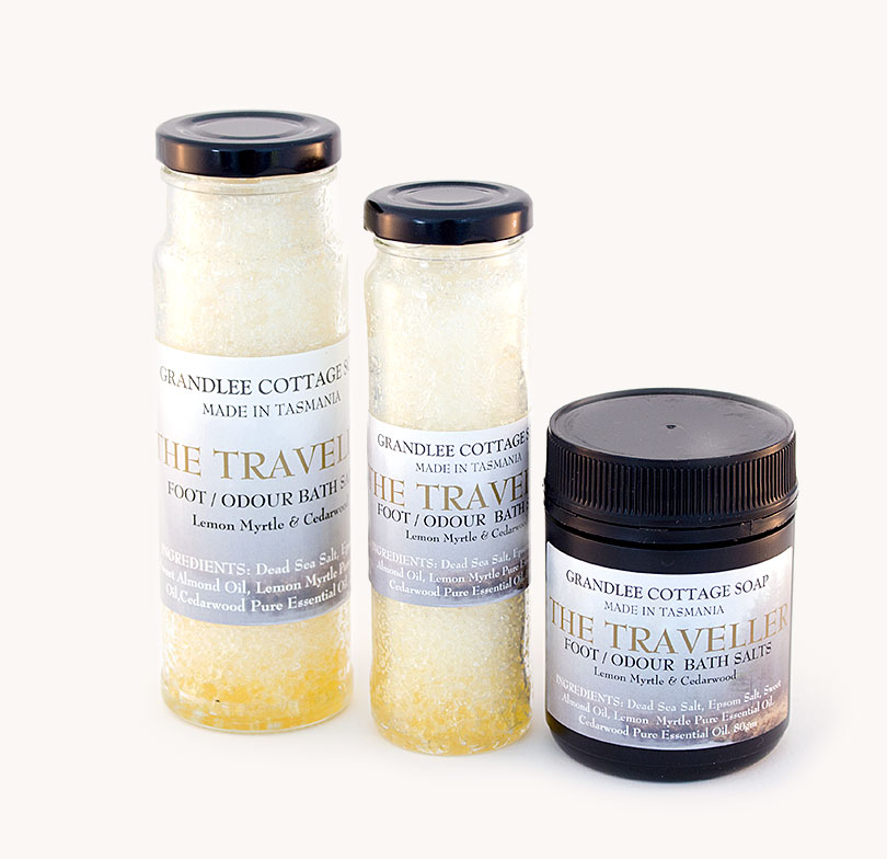 the traveller foot odour bath salts TRIO Handmade Tasmania