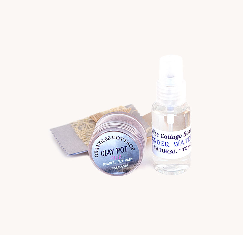 face mask pink clay and mist SET