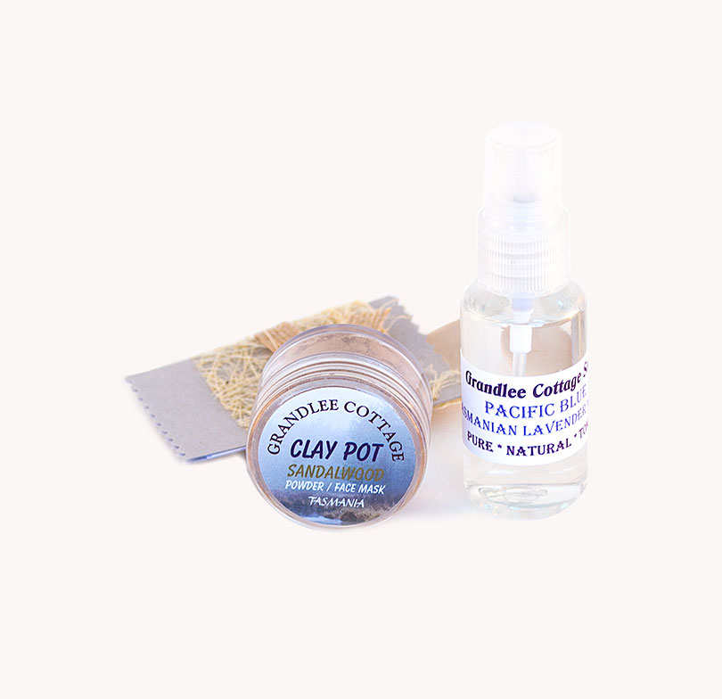face mask sandalwood powder and mist SET