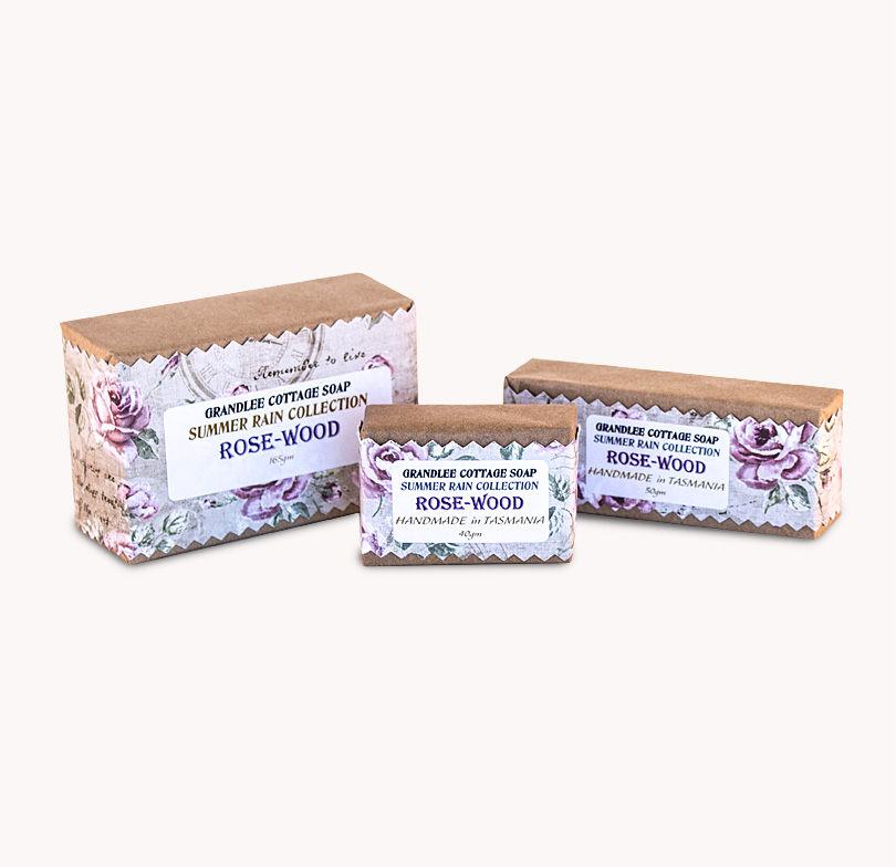 rose wood handmade natural soap Tasmania