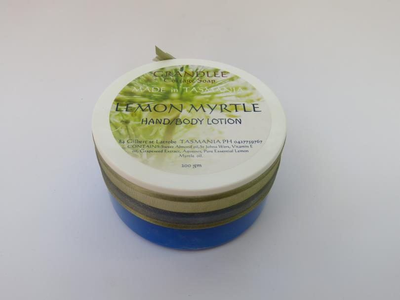 Lemon Myrtle Hand Body Lotion Tub Natural Handmade Tasmania