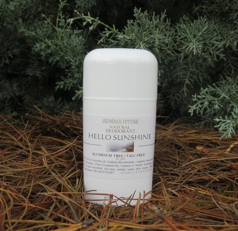 Hello Sunshine Aluminium Free Deodorant natural Handmade Tasmania