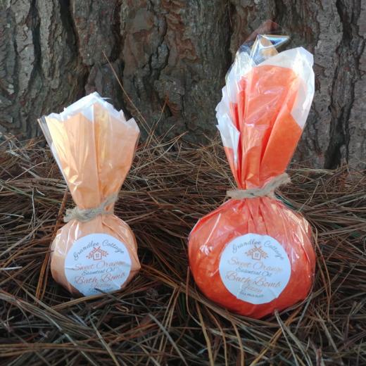 Sweet Orange Fizzy Bath Bombs Natural Handmade Tasmania